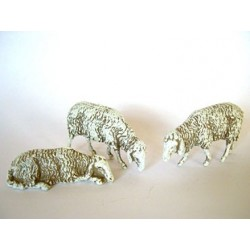 Pecore serie 3 pz pvc-resina cm 10 landi