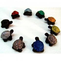 Tartaruga in pietra lavica decor. cm 3,5 art. Z20