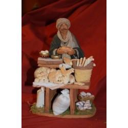 Venditore di pane con banco cm 22