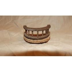 Balconcino tondo legno e sughero