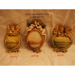 Acquasantiera angeli bacio art. A0059B