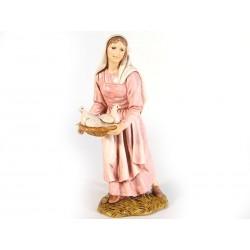 Donna con cesto colombe