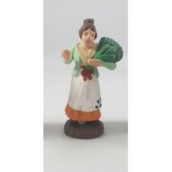 donna con lattuga