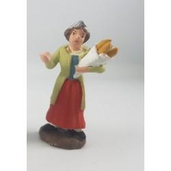 donna con sacco di pane in mano