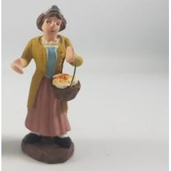 donna con cesto di pane