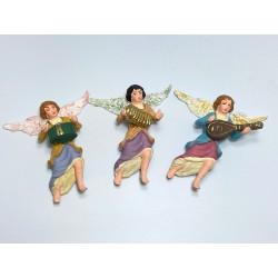 tris di angeli suonatori (tamburo, fisarmonica, mandolino)
