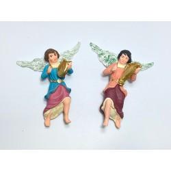 set 2 pz angeli suonatori (arpa, lira)