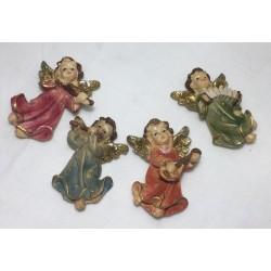 set 4pz angeli suonatori con calamita