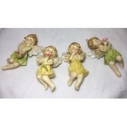 set 4pz angeli con fiori