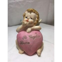 angelo con cuore inciso modello 1