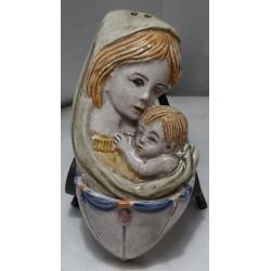 acquasantiera con madonna e gesu bambino modello 1