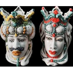 coppia teste di moro con gioielli modello2