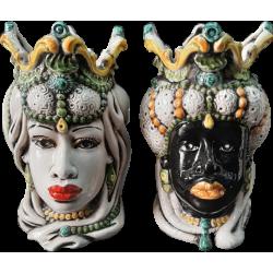 coppia teste di moro con gioielli modello 3