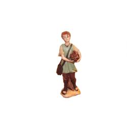 Uomo con fascio di legna