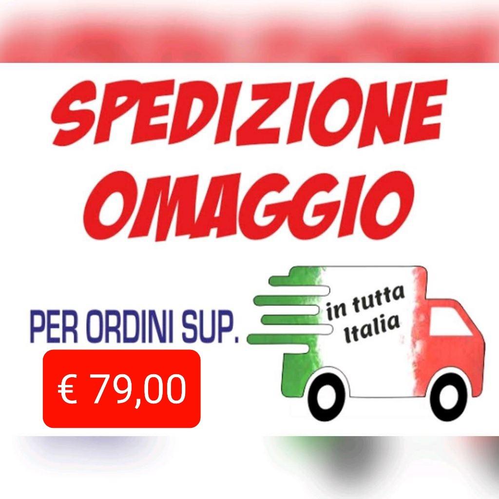 Spedizione omaggio in tutta Italia per ordini superiori a 79 euro
